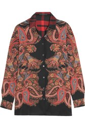 Etro Printed Silk Shirt Red