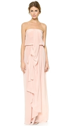 Zimmermann Strapless Draped Maxi Dress Rosewater