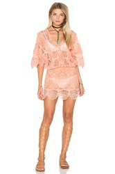 Nightcap Seashell Siren Mini Dress Peach