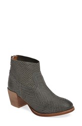 Seychelles Women's Army Snake Textured Bootie Grey Suede