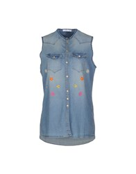 Aglini Denim Denim Shirts Women Blue