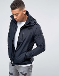 Firetrap Hooded Funnel Neck Jacket Black