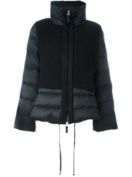 Twin Set Funnel Neck Padded Jacket Black