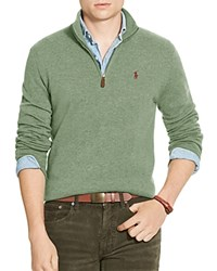 Polo Ralph Lauren Merino Wool Half Zip Sweater Lovette Heather