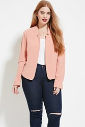 Forever 21 Plus Size Textured Blazer Rose