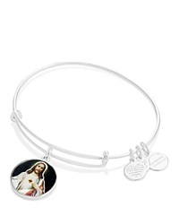 Alex And Ani Sacred Heart Of Jesus Expandable Wire Bangle Silver