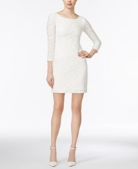 Armani Exchange Textured Bodycon Dress Off White