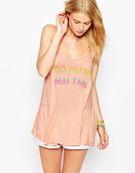 Wildfox Couture Wildfox Too Many Mai Tais Sleeveless Vest Indianatank