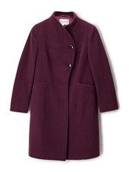 Precis Petite Avery Funnel Neck Long Coat Red