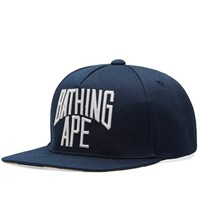 A Bathing Ape Nyc Logo Snapback Cap Blue