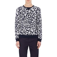 Tim Coppens Mushroom Top Intarsia Sweater Navy