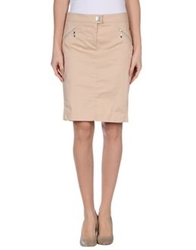 Byblos Knee Length Skirts Beige