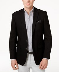 Calvin Klein Stretch Wool 2 Button Blazer Black