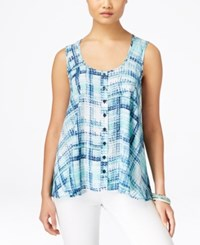 Styleandco. Style And Co. Plaid Button Front Blouse Only At Macy's Pretty Plaid