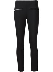 Rag And Bone Rag And Bone Zip Detail Skinny 'Annie' Cropped Trousers Black