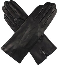 Dents Classic Silk Lined Leather Gloves Black