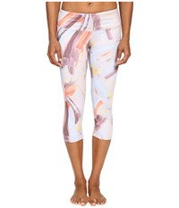 Alo Yoga Airbrushed Capri Modernist Multi Women's Workout White