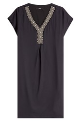 Steffen Schraut Embellished Shift Dress Black