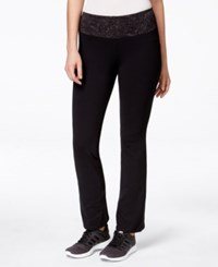 Styleandco. Style And Co. Petite Tummy Control Yoga Pants Only At Macy's Deep Black