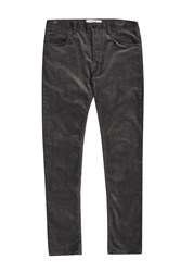 French Connection Men's Ski Stretch Corduroy Trousers Charcoal