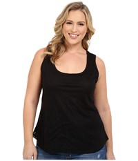Roper Plus Size 0222 All Over Lace Tank Top W Lining Black Women's Sleeveless