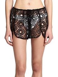 Tt Collection Ezra Crochet Shorts Black