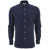 Ymc Men's Arm Pocket Long Sleeve Shirt Navy