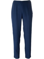 Emilio Pucci Vintage High Waisted Trousers Blue