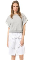 Derek Lam Rolled Sleeve 2 In 1 Dress Melange Grey