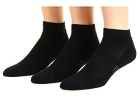 Wrightsock Spirit Lo 3 Pair Pack Black Low Cut Socks Shoes