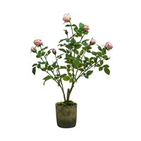 Sia Potted Roses Light Pink