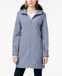 Calvin Klein Long Length Hooded Raincoat Aluminum