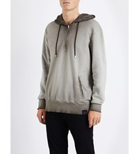 Criminal Damage Fade Cotton Jersey Hoody Khaki
