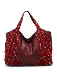 Steve Madden Lora Suede Patched Hobo Bag Wine
