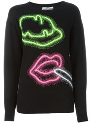 Moschino Neon Sign Jumper Black