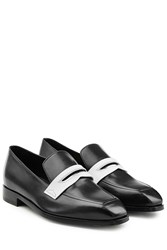 Rupert Sanderson Two Tone Leather Loafers Black