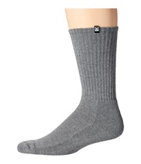Obey Eighty Nine Sock Heather Grey Men's Crew Cut Socks Shoes Gray