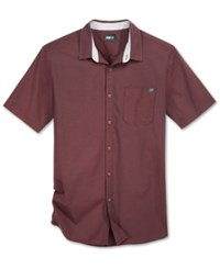 Fox Men's Fields Short Sleeve Shirt Burgundy
