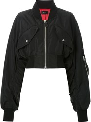 G.V.G.V. Cropped Bomber Jacket Black