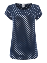 Vero Moda Polka Dot Short Sleeve Noos Top Navy