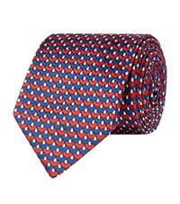 Turnbull And Asser Graphic Tie Unisex Blue