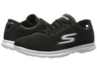 Skechers Go Step Sport Black White Women's Walking Shoes
