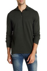 Agave Perry Long Sleeve Zip Mock Neck Flat Back Pullover Green