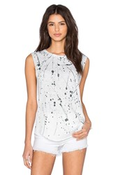 Tyler Jacobs Splatter Cut Off Tank White