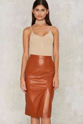 So Long Midi Skirt Orange