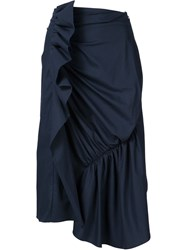 J.W.Anderson J.W. Anderson Ruffled A Line Mid Skirt Blue