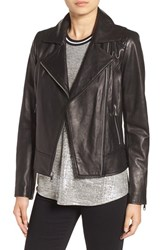 Andrew Marc New York Women's Nappa Leather Moto Jacket