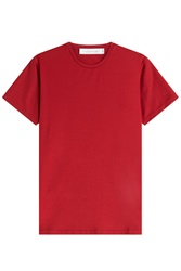 Victoria Beckham Denim Cotton T Shirt Red