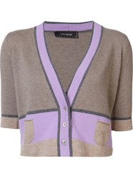 Cividini Cropped Cardigan Brown
