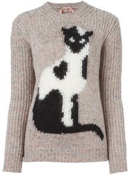 N 21 Nao21 Cat Jumper Nude And Neutrals